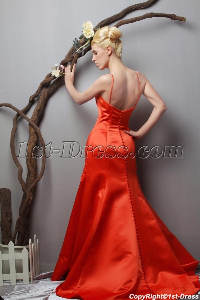 Brilliant Orange Amazing Prom Dresses with Train under 200 SOV111014 ...