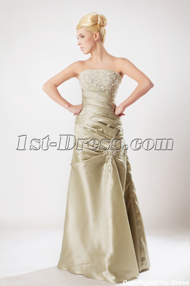 Champagne Military Ball Gown Prom Dress with Strapless SOV111004:1st ...