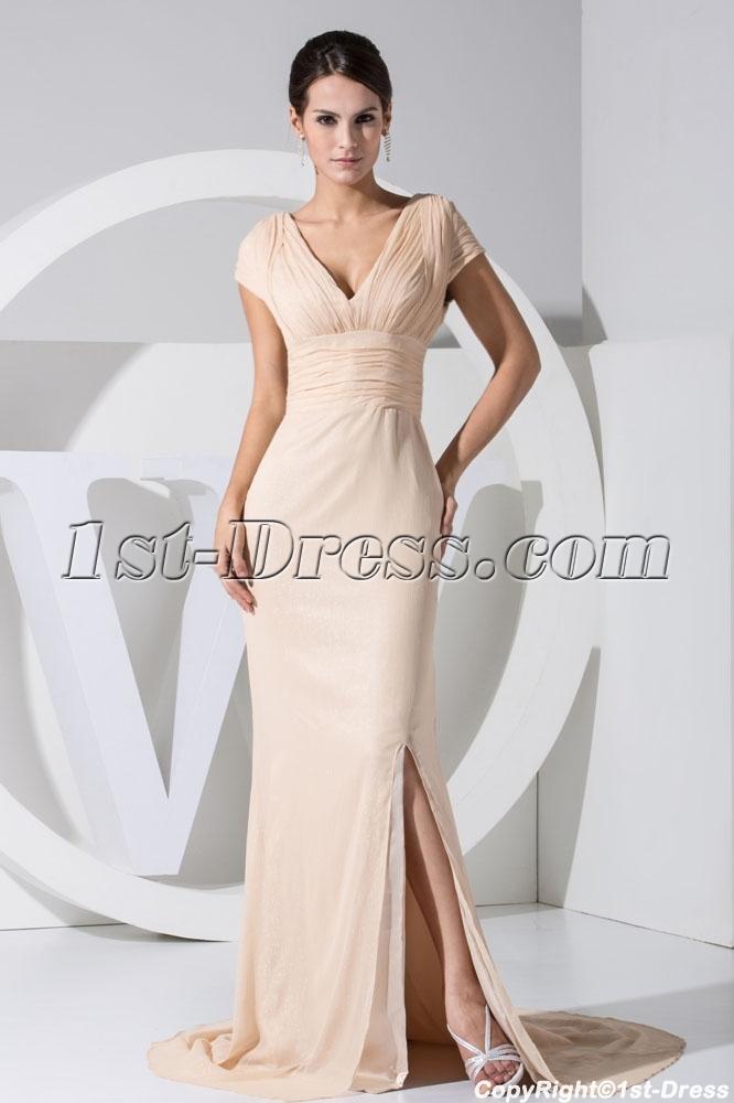 Short sleeves beautiful celebrity evening dress wd1 034 1st dress com
