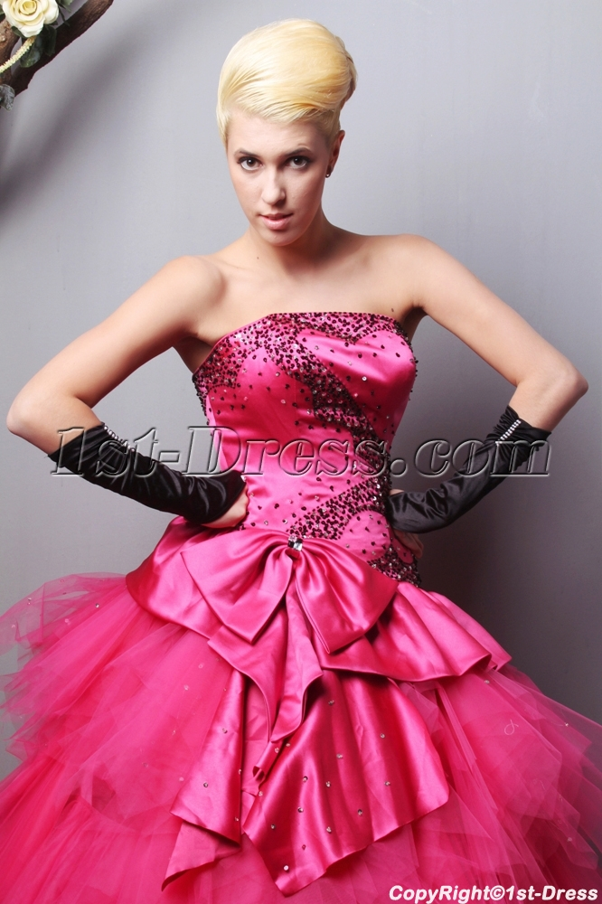 c17d0063105 Charming Strapless Long Fuchsia quinceanera dresses Cheap SOV113006 1st- dress.com