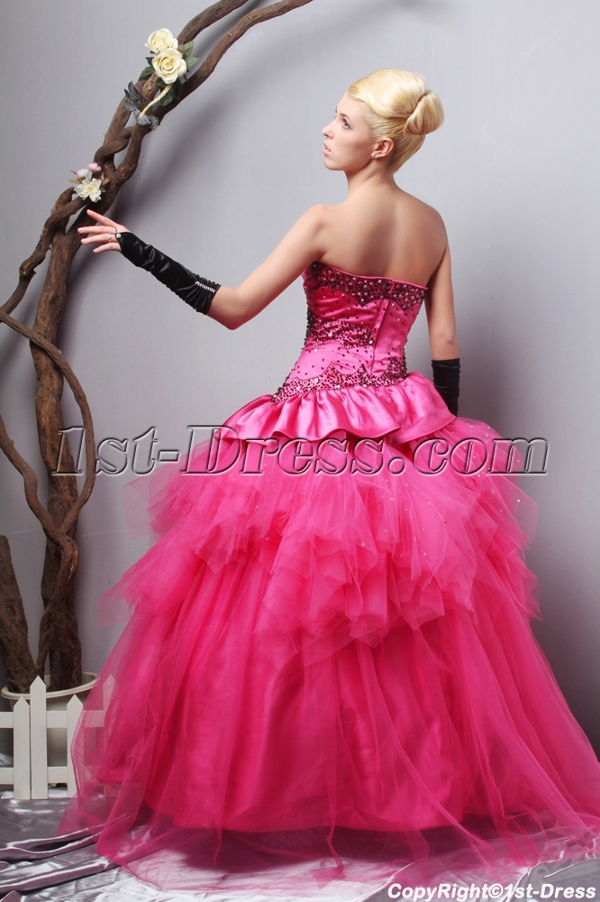 81254d0090a prev  next. Specifications. Product Name  Charming Strapless Long Fuchsia  quinceanera dresses Cheap SOV113006 ...