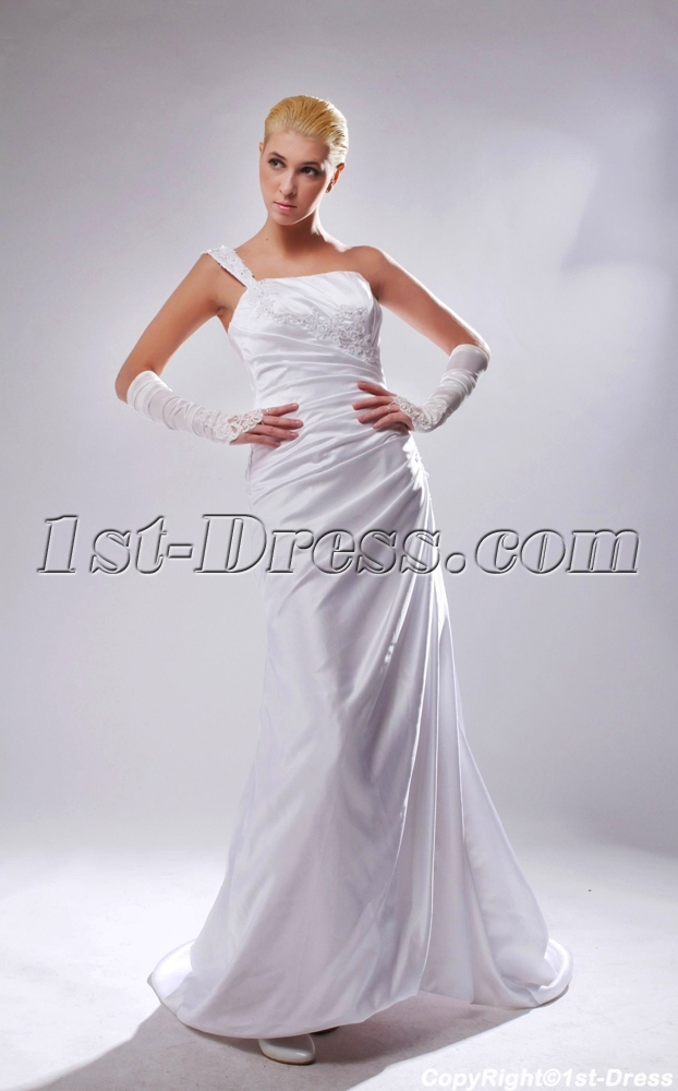 Cheap one shoulder a line beach wedding dresses sov110006 Inexpensive beach wedding dresses