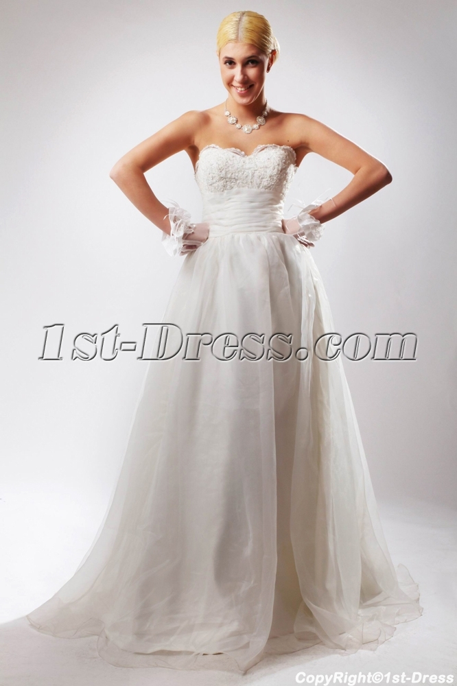 Cheap Sweetheart Elegant Ball Gown Wedding Dresses without Train ...
