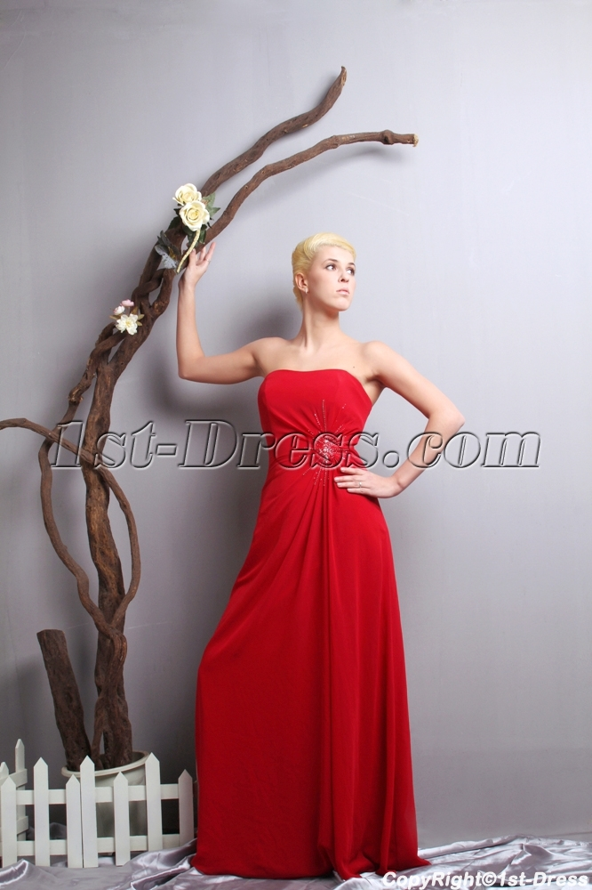 Classical Simple Plus Size Prom Dresses 2013 Red SOV111017,Classical ...