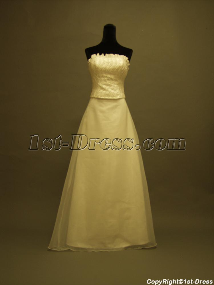 Detachable train column bridal gown p8310662 1st for Detachable train wedding dress