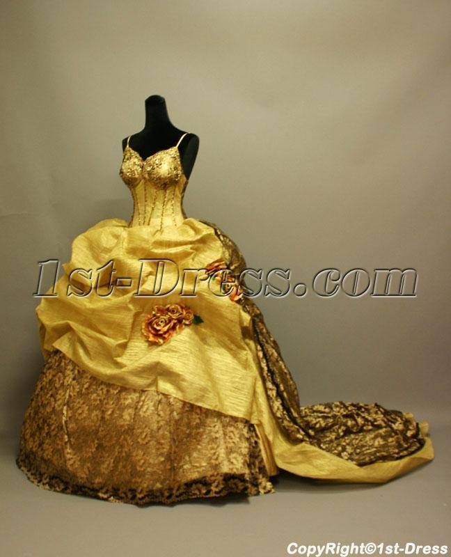 Gold Victorian Gothic Wedding Gowns 2013 IMG_6853:1st-dress.com