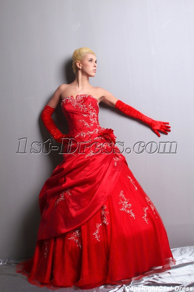 Gorgeous Red Pretty Quinceanera Dress Ball Gown