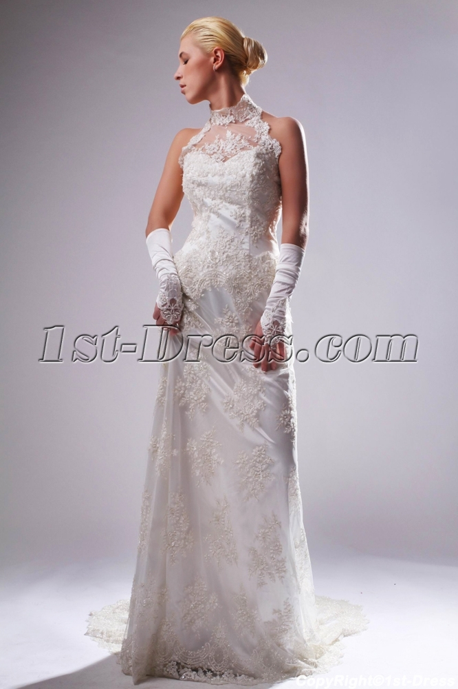images/201303/big/High-Collar-Halter-Champagne-Lace-Column-Bridal-Gown-with-Train-SOV110009-872-b-1-1364233329.jpg