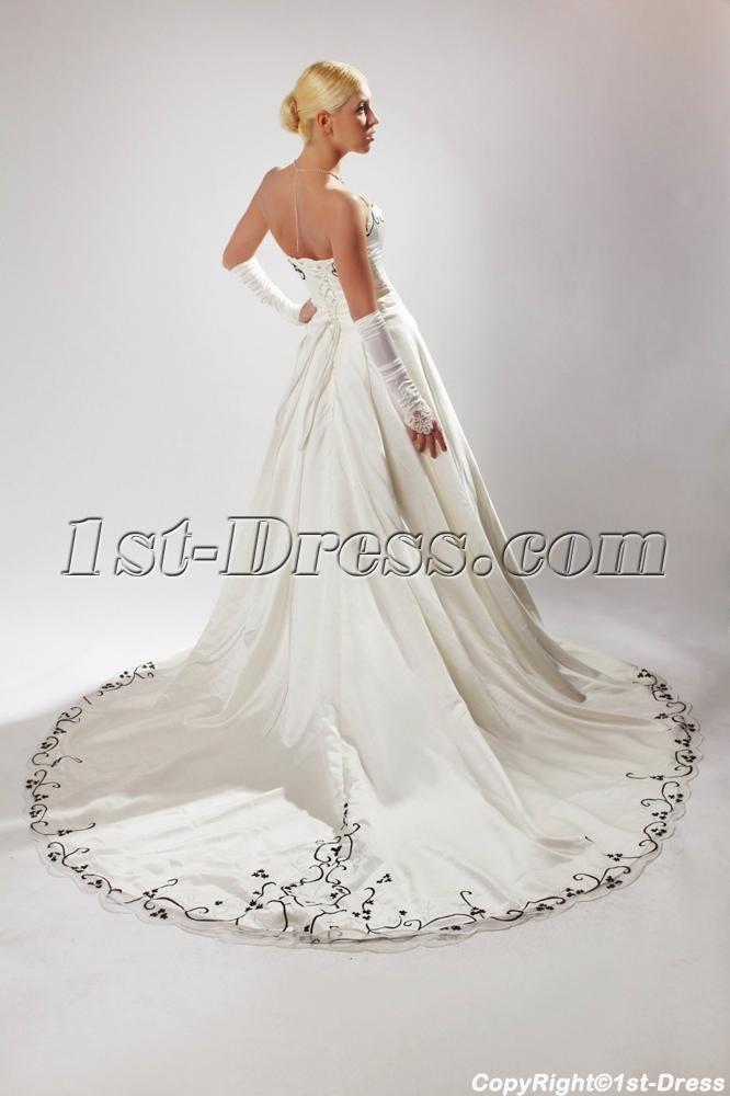 Ivory Plus Size Wedding Dresses With Color Black Sov1100271st Dress
