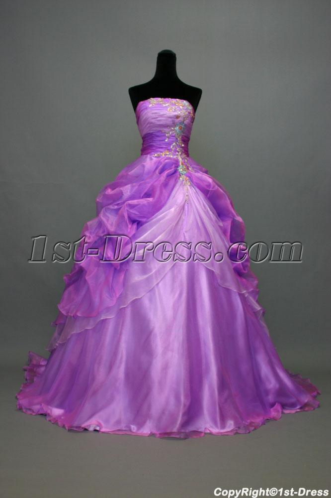 Lilac Romantic Best Quinceanera Dresses with Train IMG ...