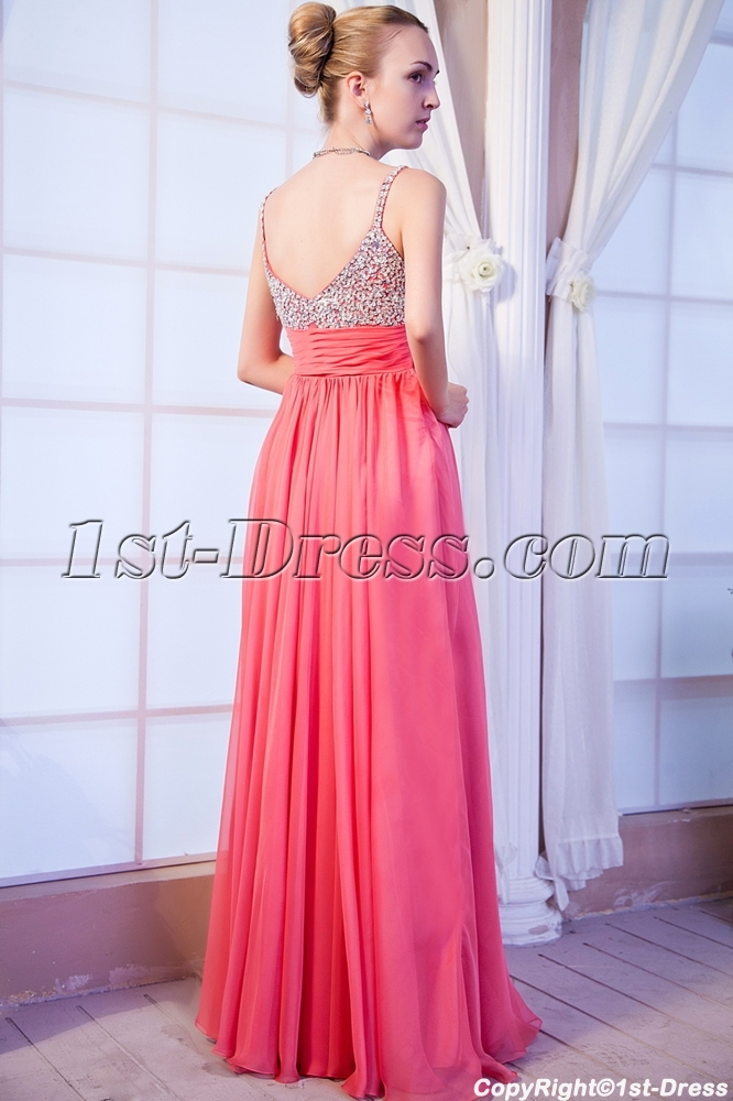 Low Back Plus Size Coral Formal Evening Dress Img99511st Dress