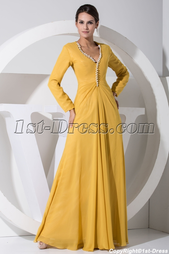 images/201303/big/Modest-Daffodil-Chiffon-Mother-of-Bride-Dress-with-Long-Sleeves-WD1-046-722-b-1-1363346204.jpg