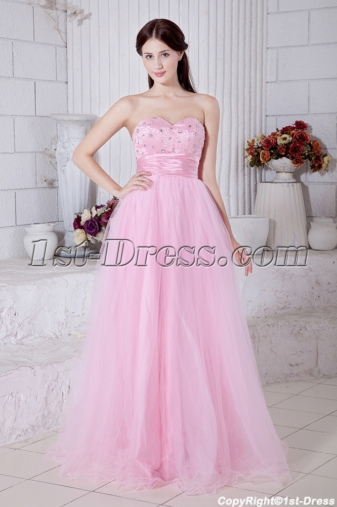 Pink Military Ball Gowns on Sale with Corset Back IMG_7494:1st-dress.com