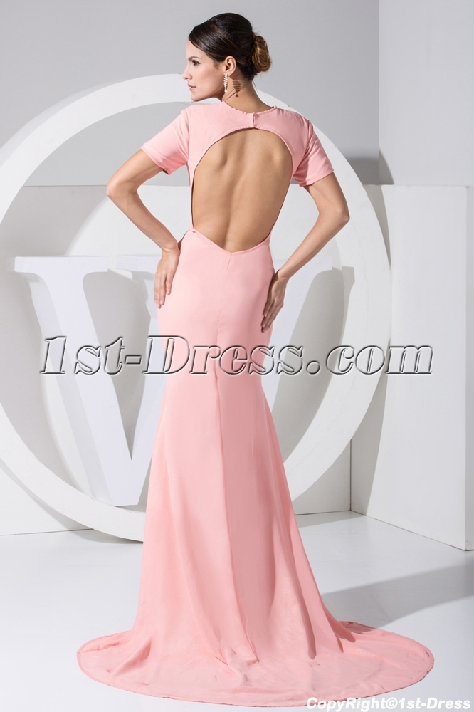 images/201303/big/Pink-Open-Back-Beach-2013-Evening-Dress-with-Short-Sleeves-WD1-032-708-b-1-1363265124.jpg