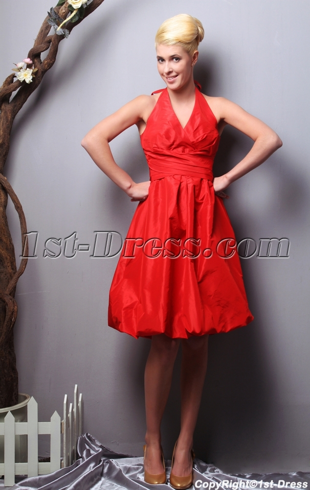 Red Halter Plus Size Bridesmaid Dresses Under 150 Sov1120121st