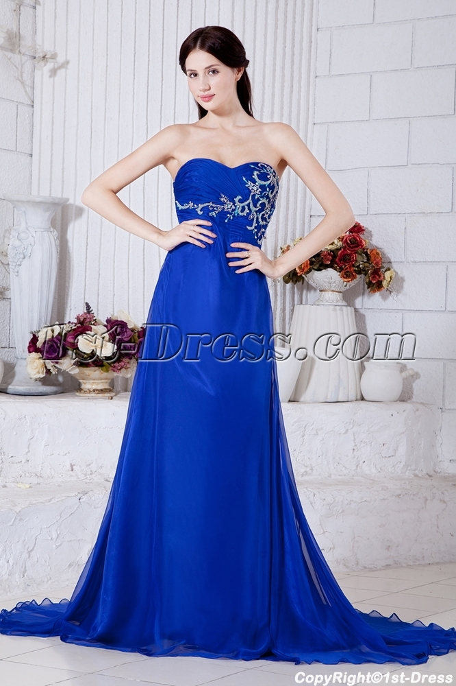 Royal Floor Length Chiffon Empire Maternity Dresses For Special