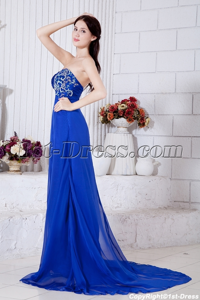 dbe03c7e0a7 Royal Floor Length Chiffon Empire Maternity Dresses for Special Occasions  IMG 7386 (Free Shipping)