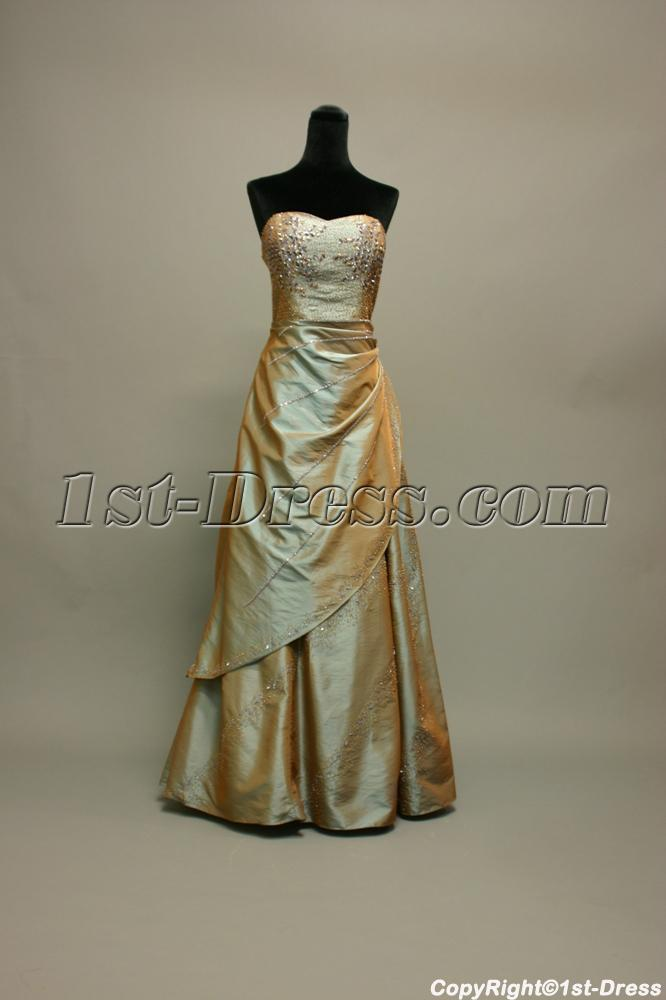 Sage Plus Size Military Ball Gown IMG_7160:1st-dress.com