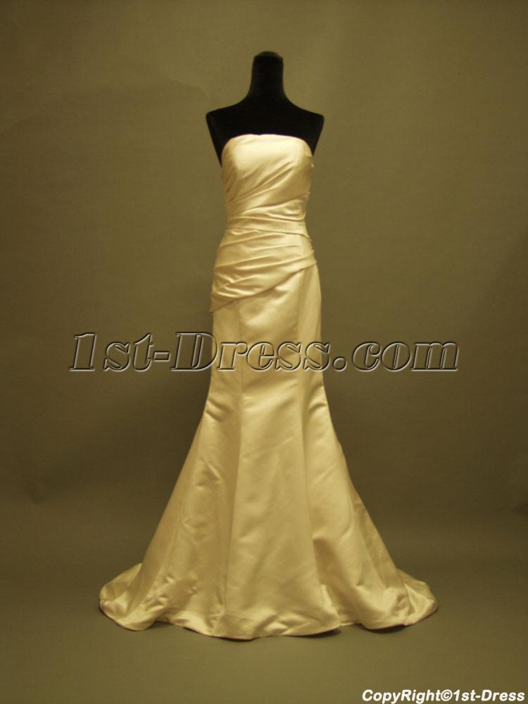 Sheath wedding dresses for petite : Home gt bridal gowns casual satin petite sheath wedding