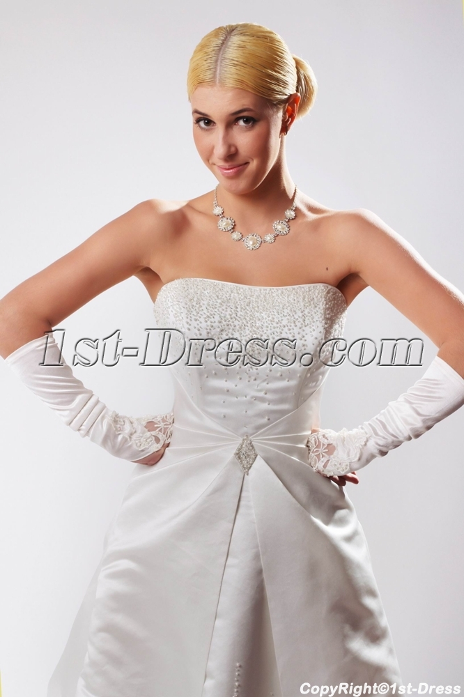 Strapless Western Bridal Gown for Old Lady SOV110022:1st-dress.com