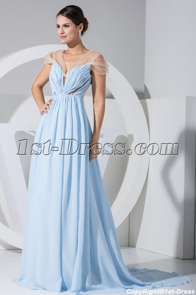 Turquoise Fashionable Illusion Sexy Mother Of Bride Dress