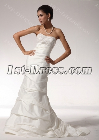 2012 Empire Sheath Satin Simple Destination Wedding Dresses with Lace up bdjc890508