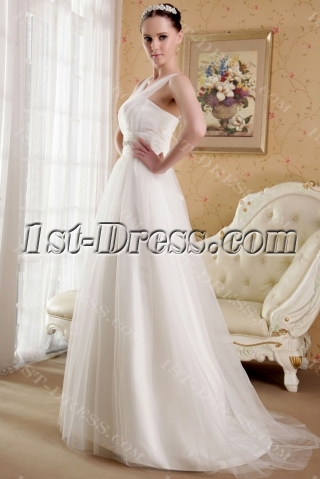 2012 Modest Western Bridal Gown with Corset IMG_3644