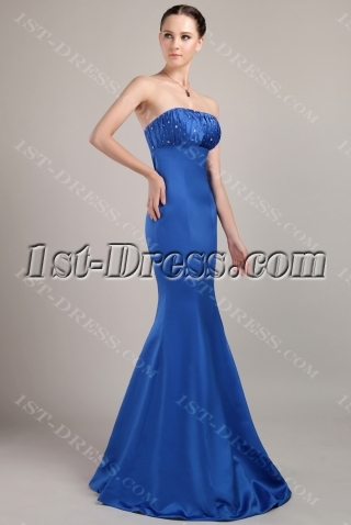 2012 Royal Blue Sheath Style Bridesmaid Dresses IMG_3082