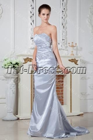 Amazing Popular Silver Formal Evening Dress IMG_1759