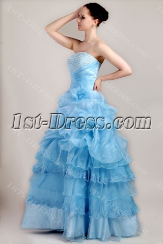Beautiful Aqua Best Quinceanera Dress Cheap IMG_3446