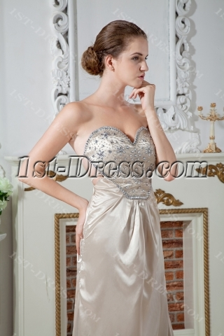 Champagne Beach Bridal Gown with Open Back IMG_1893