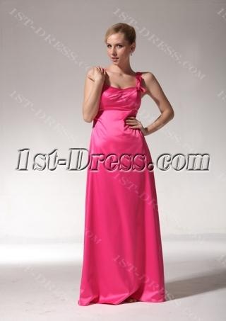 Cheap Long Fuschia Bridesmaid Dresses with Straps bmjc890908