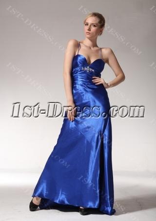 Cheap Royal Dresses for Graduation with Split Front edjc890609