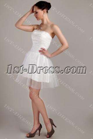 Cute Strapless Mini Length Cocktail Dress IMG_3395
