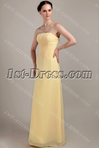 Discount Long Maize Bridesmaid Dresses IMG_3338