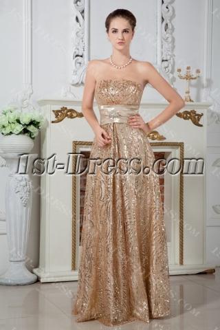Elegant 2013 Long Gold Sequins Evening Dresses IMG_1701