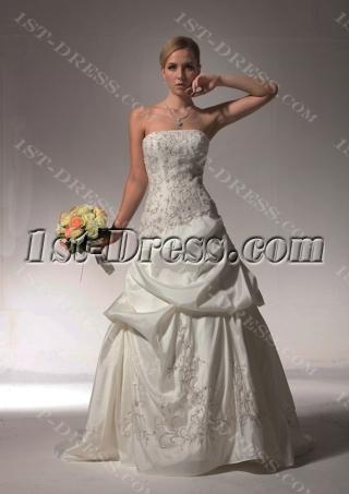 Embroidery Pick up Romantic Wedding Dresses bdjc890408