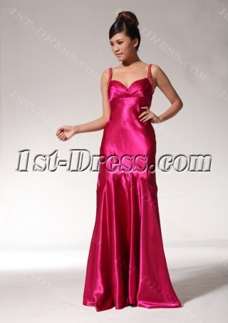 Fuchsia Unique Graduation Dresses with Open Back edjc890709