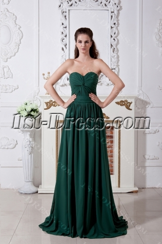 Hunter Green Classic Prom Dresses 2013 IMG_1758