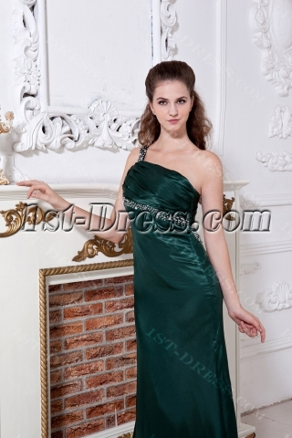 Hunter One Shoulder Summer Sexy Evening Dress with Keyhole IMG_1815