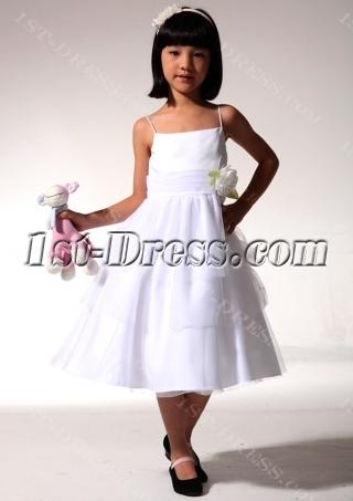 Inexpensive Ivory Short Flower Girl Dress fgjc890609