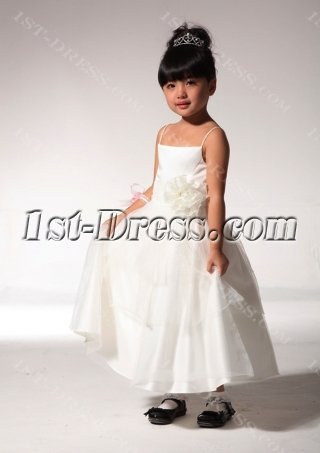 Ivory Cute Toddler Flower Girl Dresses fgjc890409