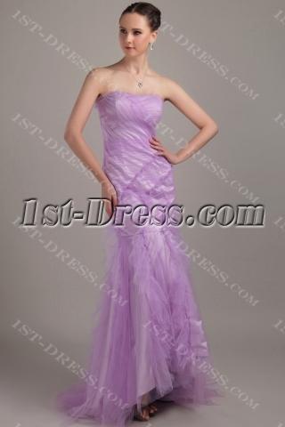 Lilac Romantic Mermaid Prom Dress 2013 with Train IMG_3244