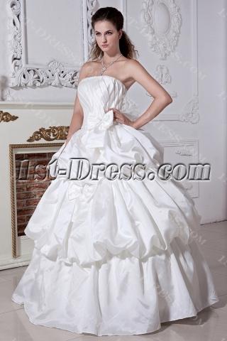 Long White Pretty 15 Quinceanera Dress IMG_1924