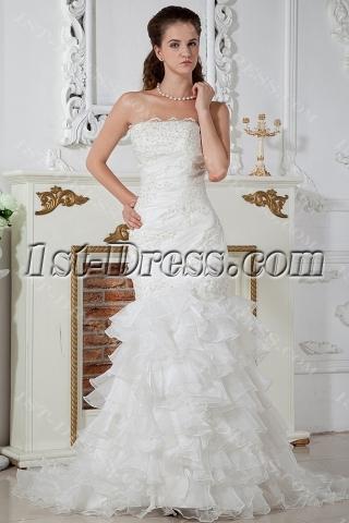 Luxurious Strapless Mermaid Style Wedding Dresses IMG_1438