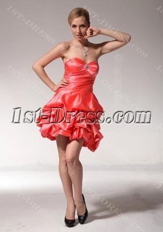 Orange Cute Cocktail Dresses pmjc891009