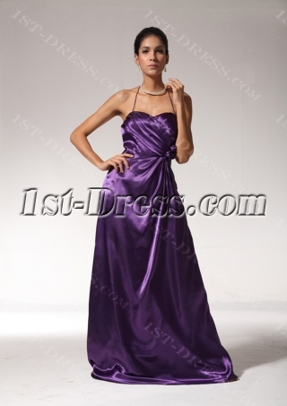 Purple Summer Long Simple 2013 Evening Dress bmjc891008