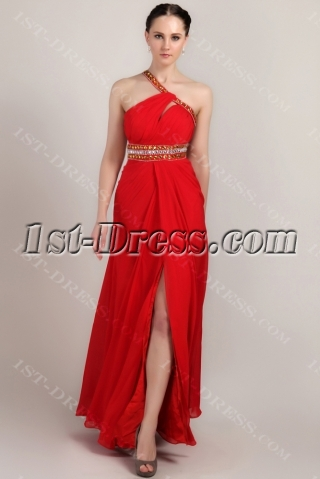 Red Long Graduation Dresses for College with Open Back IMG_3418