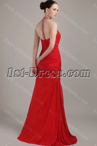 Red Sexy Beach Prom Dress with T Back IMG_3240