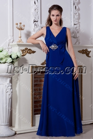 Royal V-neckline Military Prom Gown Dress 2013 IMG_2093